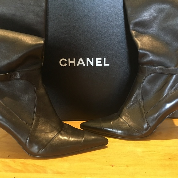 7b3511cc5c2 CHANEL Shoes - Chanel stretch thigh high boots
